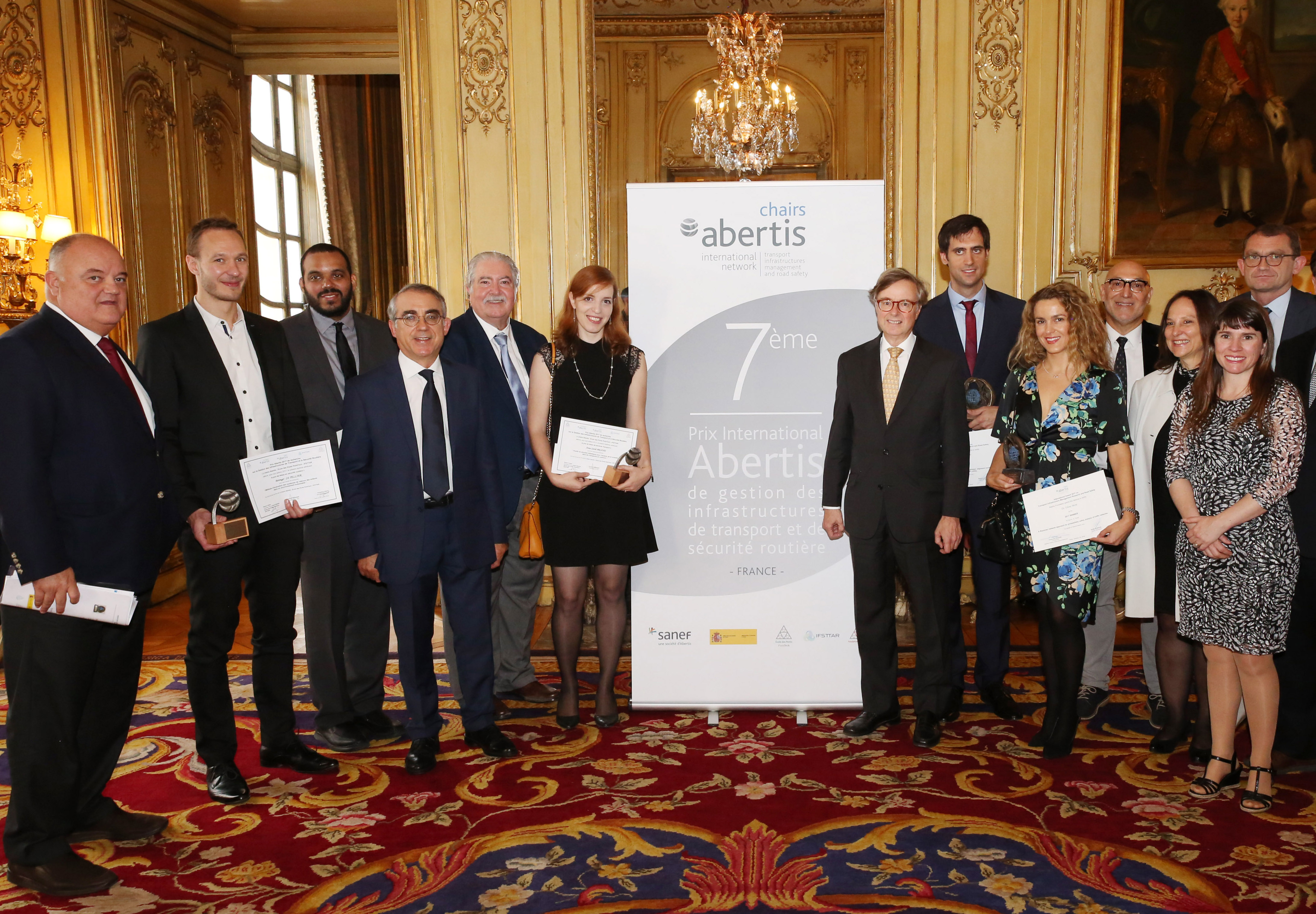 The Abertis Chair awards the VII International Prize for Infrastructure Management and Road Safety in Paris, France