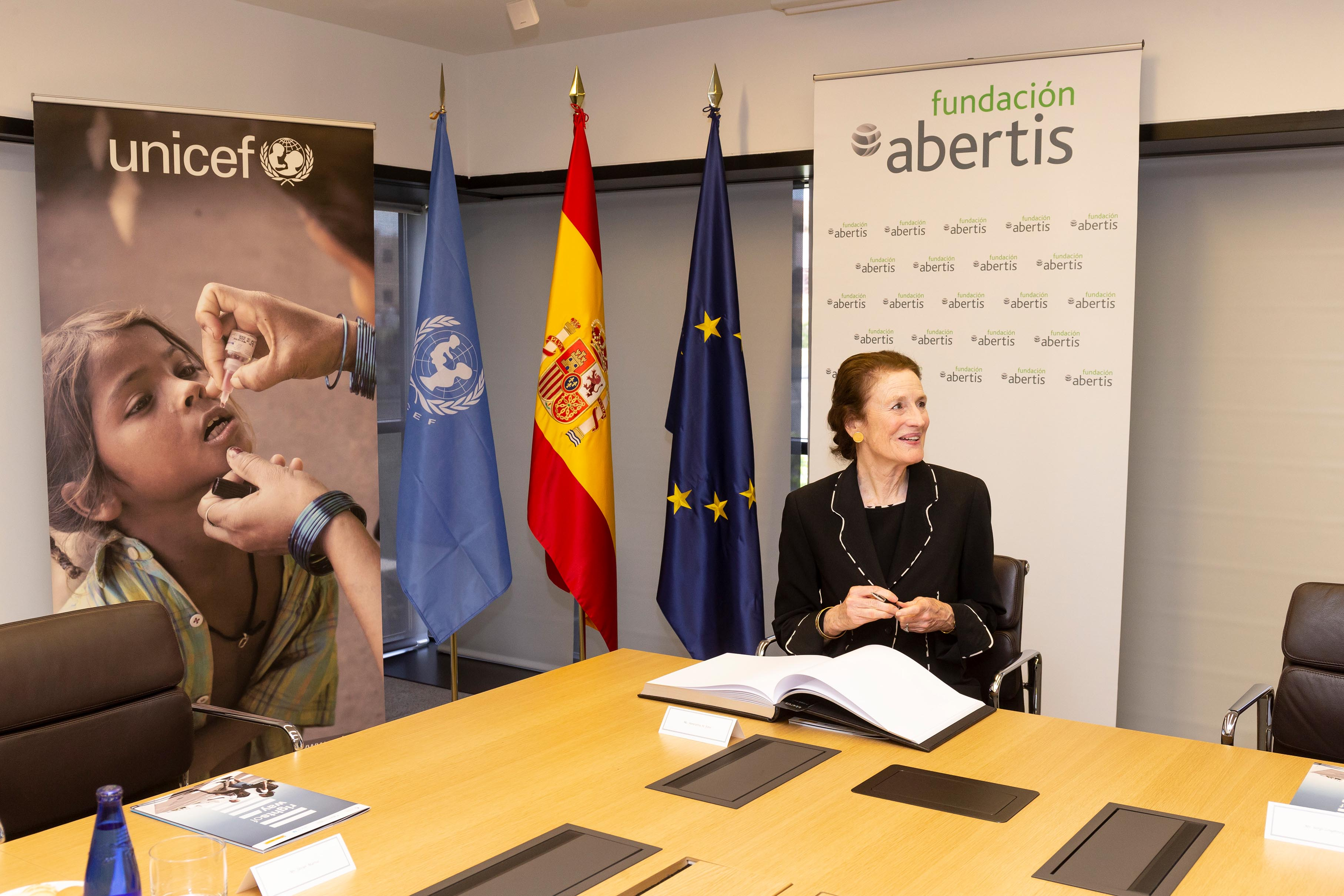 Meeting of the Abertis Foundation with Henrietta H. Fore, Executive Director of UNICEF
