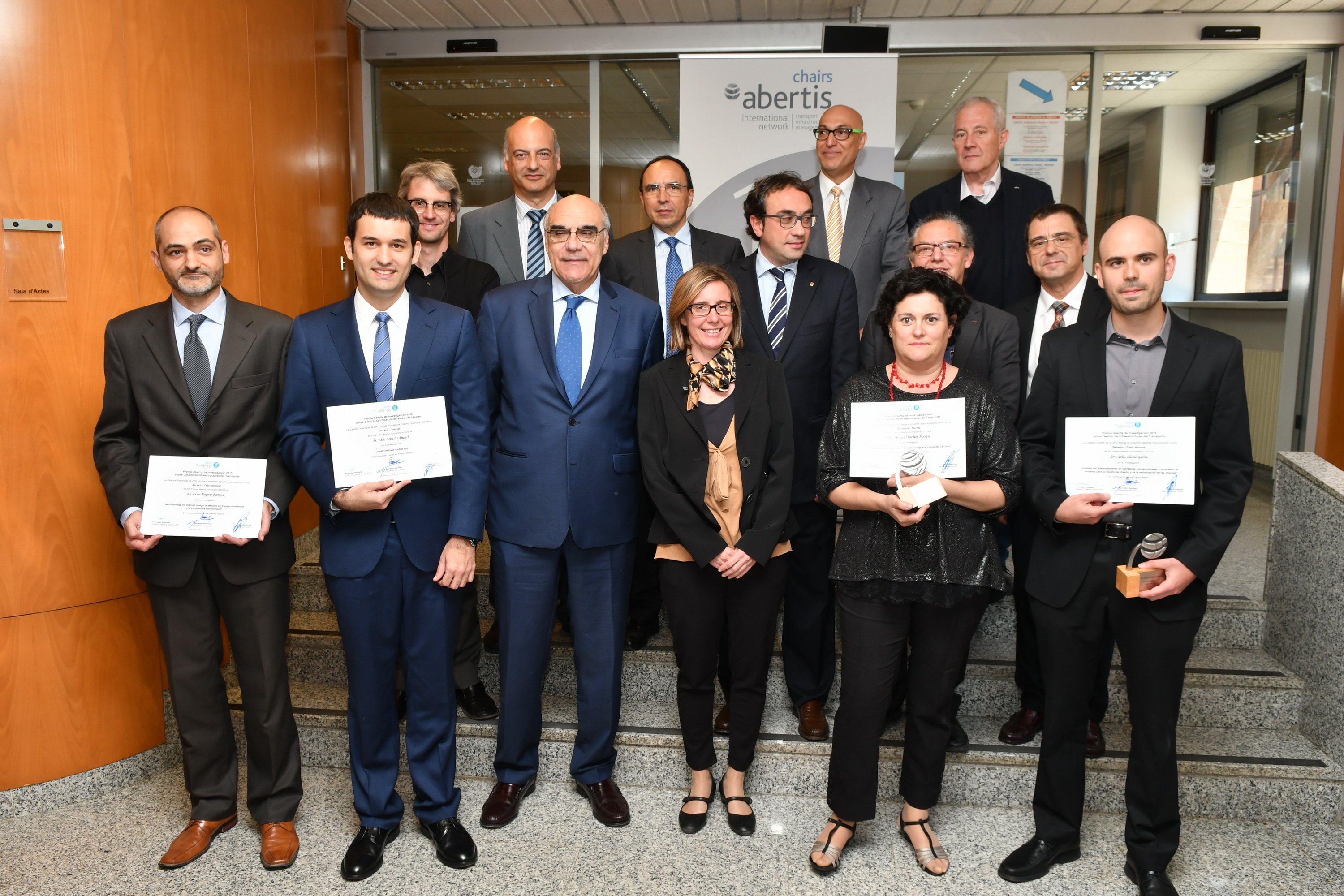 The Abertis-UPC Chair awards the XIII Abertis Prize for Management of Transportation Infrastructures